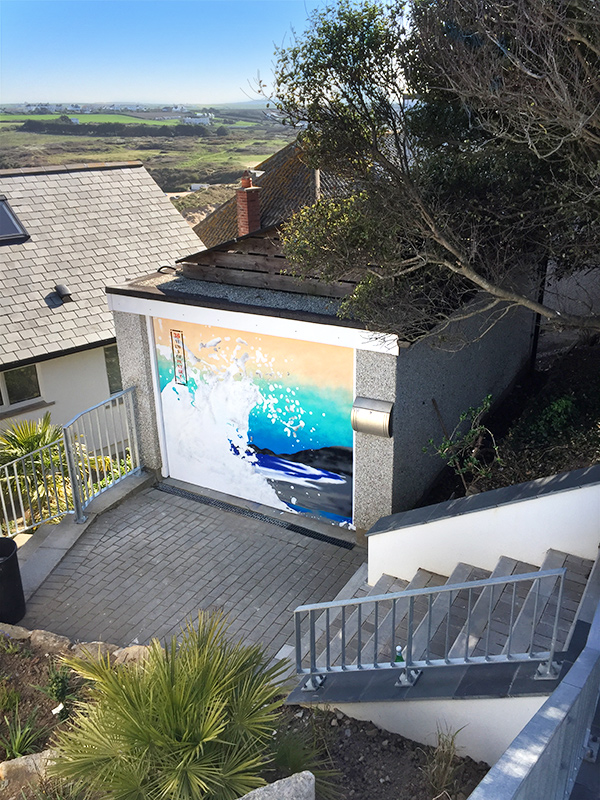 A street art commission in Newquay, Cornwall created by artist James Straffon