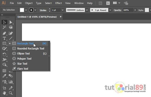 Cara membuat berbagai bentuk objek dasar di illustrator (AI)