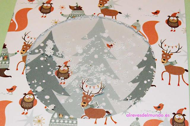 tarjeta navidad nieve
