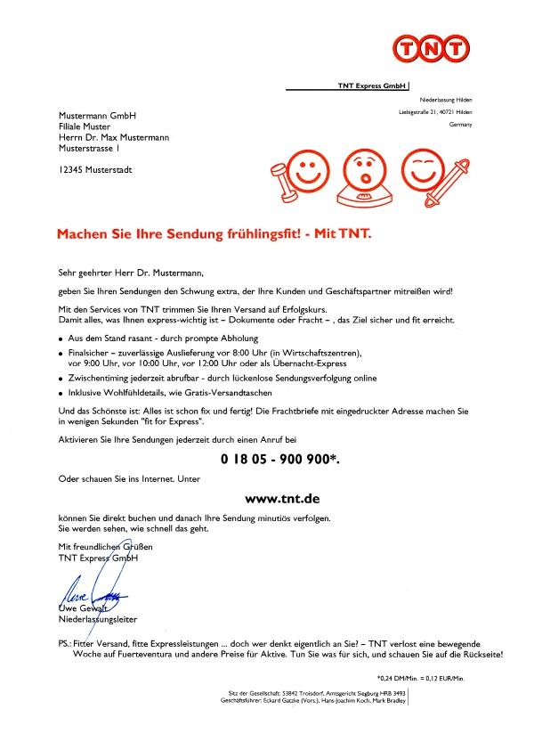 Direktwerbung, Geschäftskunden, Logistik, Post, Werbetext, Texter, Köln, Düsseldorf