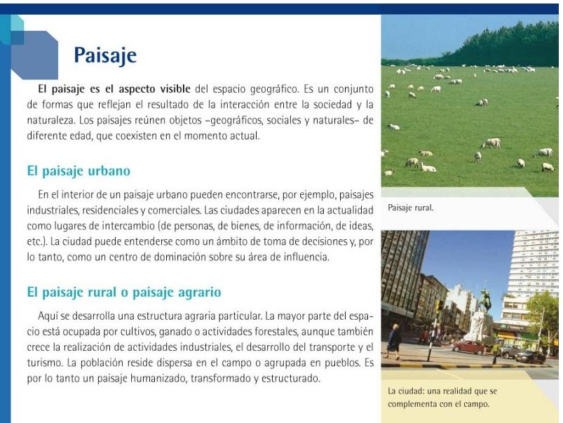 Primero geograf a paisajes urbanos y paisajes rurales - Tipos de paisajes ...