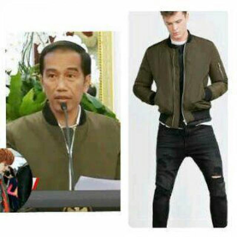 Jual Online Jaket Bomber Jokowi Army Murah Jakarta Bahan Flece Terbaru