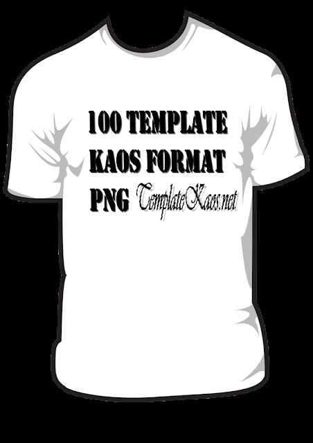 100 Template Kaos Format PNG