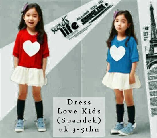 Jual Baju Anak Perempuan Dress Love (Kids) - 12637