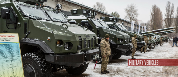 Ukraine army receives modernized tanks and military vehicles