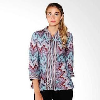 Baju Batik Kerja Guru Kombinasi