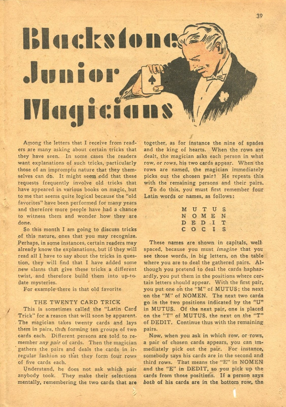 Read online Super-Magician Comics comic -  Issue #18 - 38