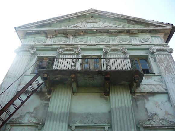 Прелестное. Дворец Бантыша. 1837 г. Тыльная сторона здания. Балкон и противопожарная лестница