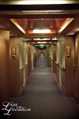 Carnival Conquest cruise ship corridor, photo by Lisa On Location Photography
