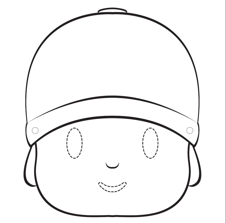 Pocoyo Free Printable Coloring Mask or Template. | Oh My Fiesta! in ...