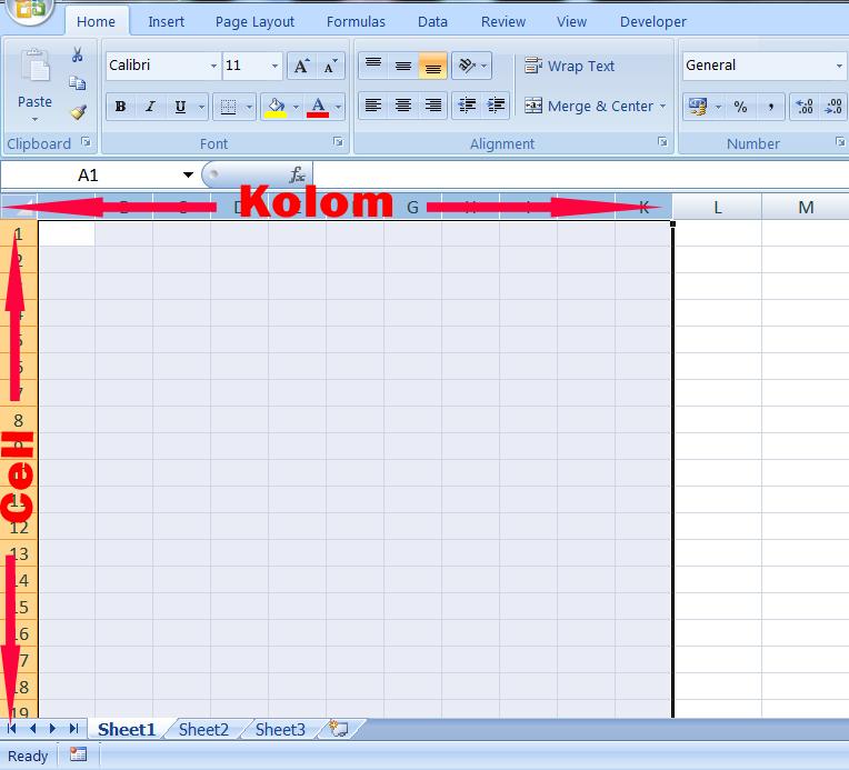 Cara Mengatur Ukuran Kolom atau Cell Secara Otomatis di Excel ...