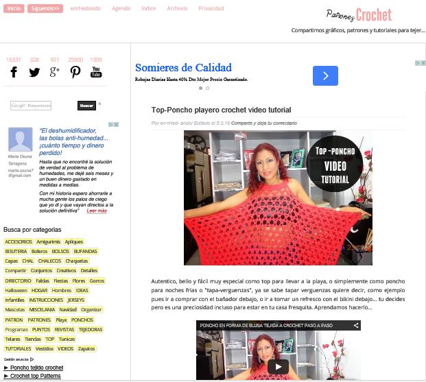 Porque se hace el Blog Patrones para Crochet