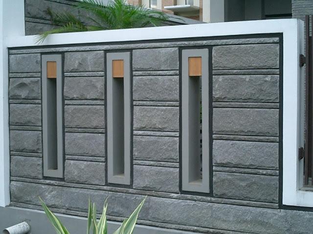gambar pagar rumah dgn batu alam