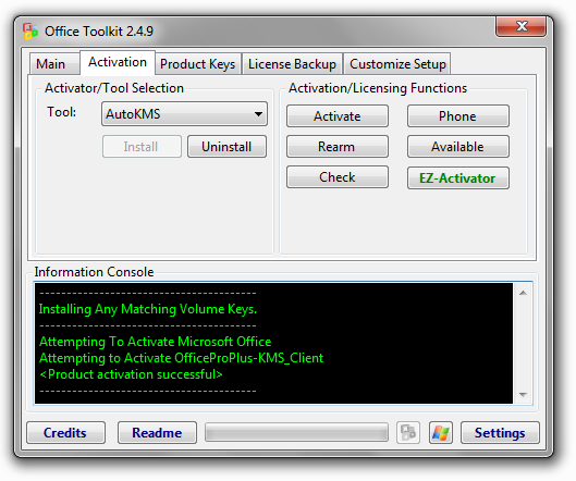 microsoft toolkit kms activator