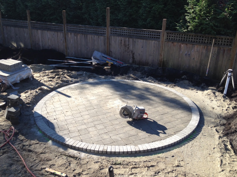 Marvelous Cutting Concrete Pavers Patio