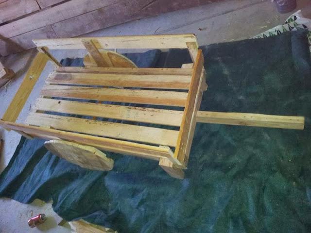 El blog de la elena un blog dulce divertido y for Carretillas de madera para jardin