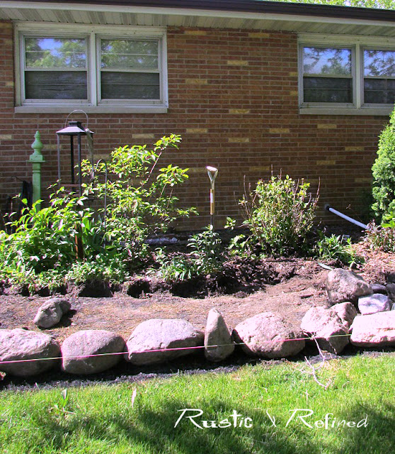 The easiest way to enlarge a garden bed