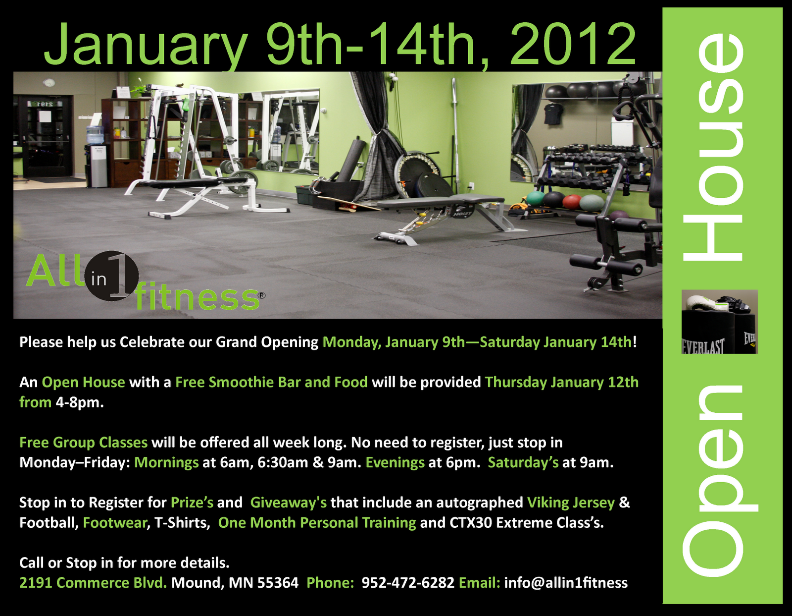 One Girl Ideas All In 1 Fitness Open House 1 9 12 1 14 12