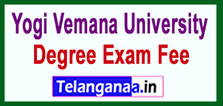YVU Yogi Vemana University Degree 2017 Exam Fee