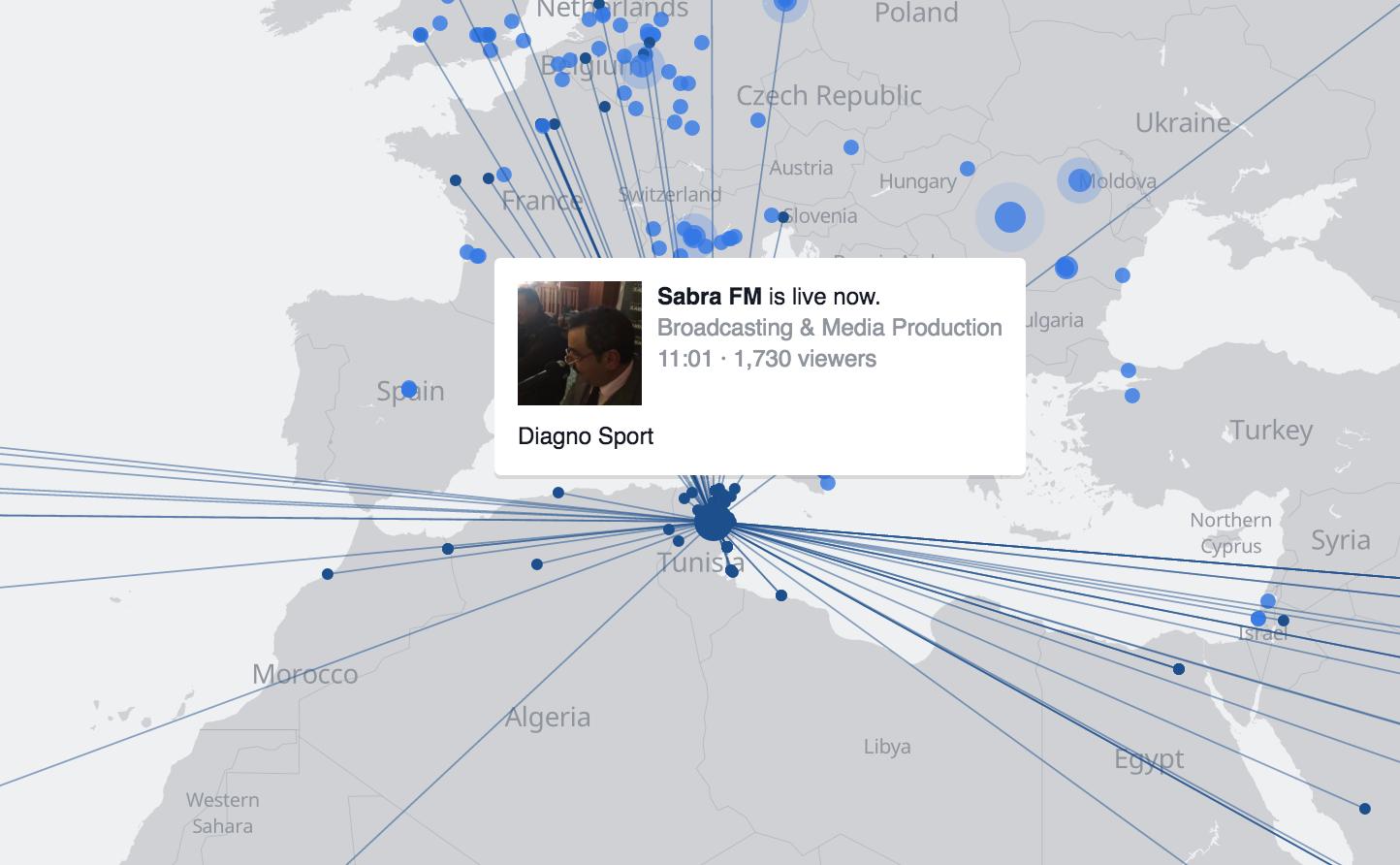 Live Facebook Map Stream