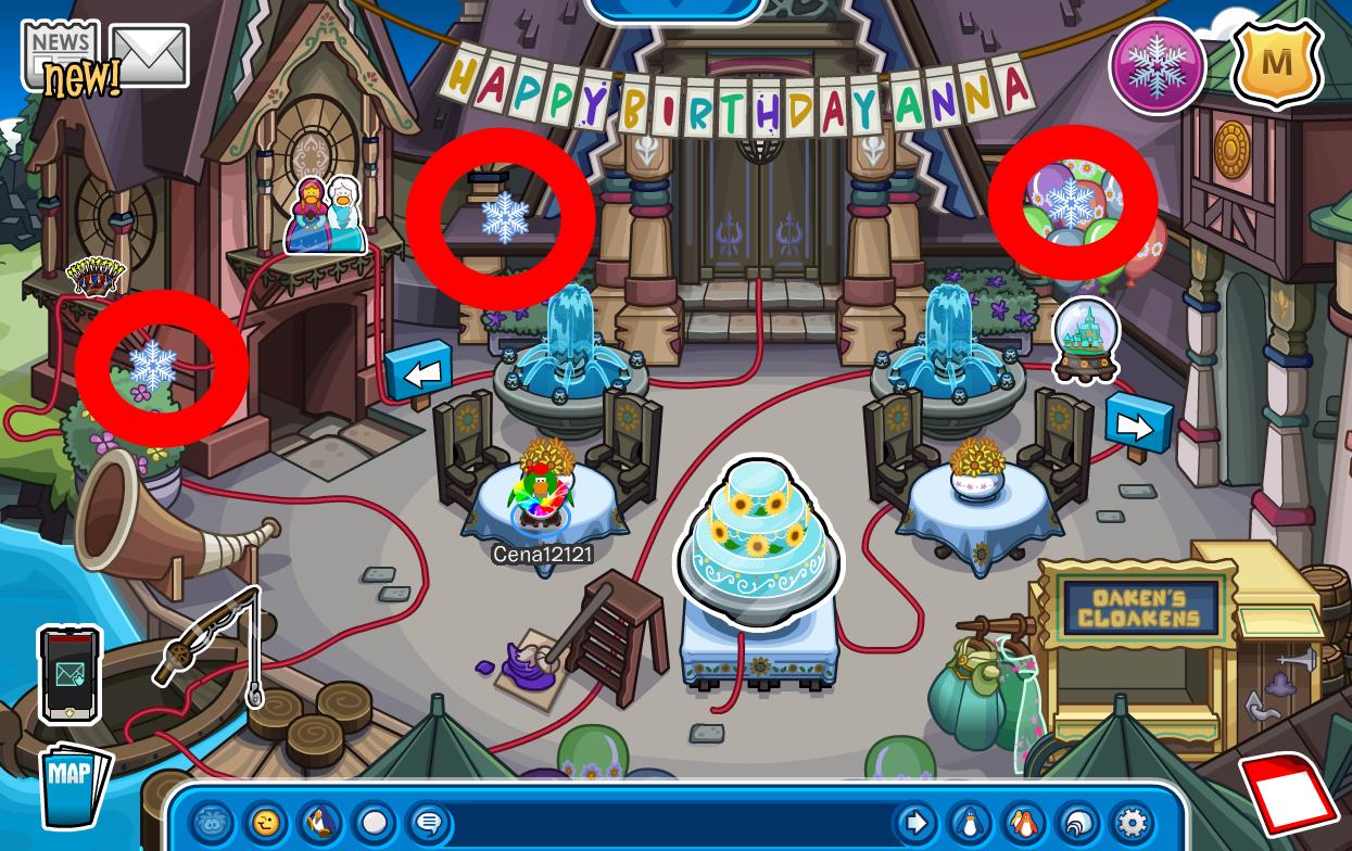 Club Penguin Frozen Fever Party 2016 Cheats