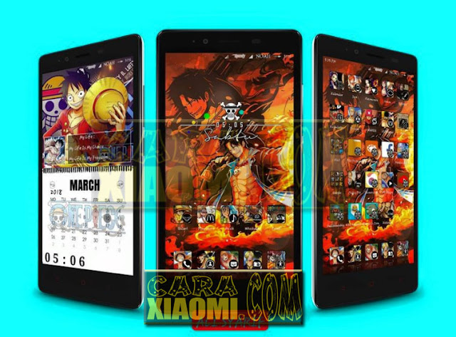 Update Tema Xiaomi Anime MI Piece V3 Terbaru For MIUI V8/V9 Theme