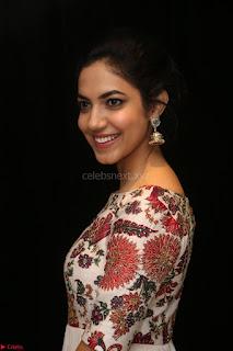 Ritu Varma smiling face Cream Anarkali dress at launch of OPPO New Selfie Camera F3 ~  Exclusive 014.JPG