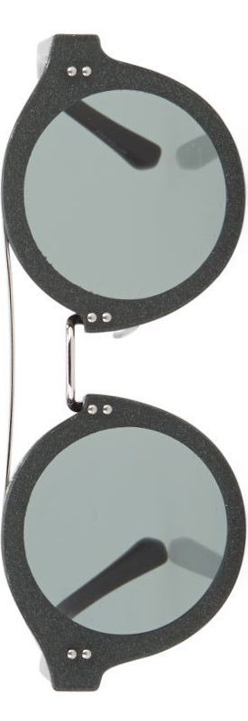 Jimmy Choo Montie 64MM Round Glitter Sunglasses