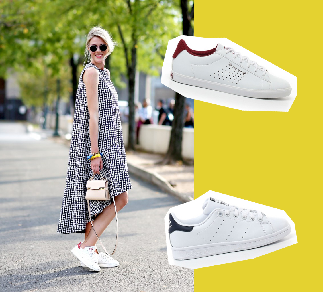 sneakers bianche outfit