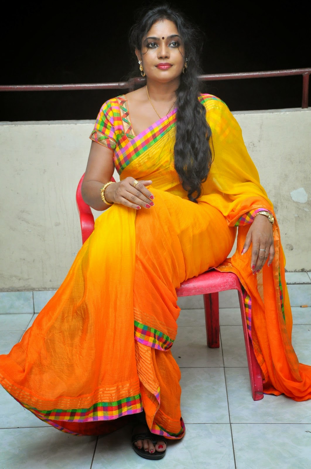 South Jayavani Aunty Latest Hot Saree Photos 2018-6540
