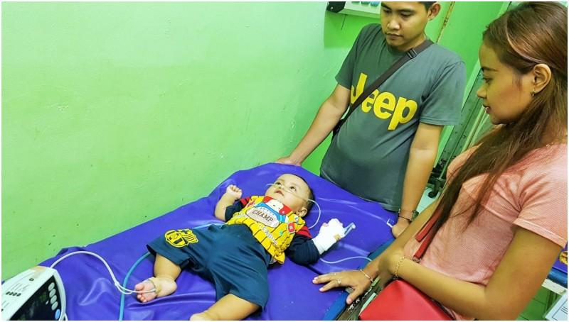 Elvio saat dirawat di RS R Syamsudin SH Sukabumi