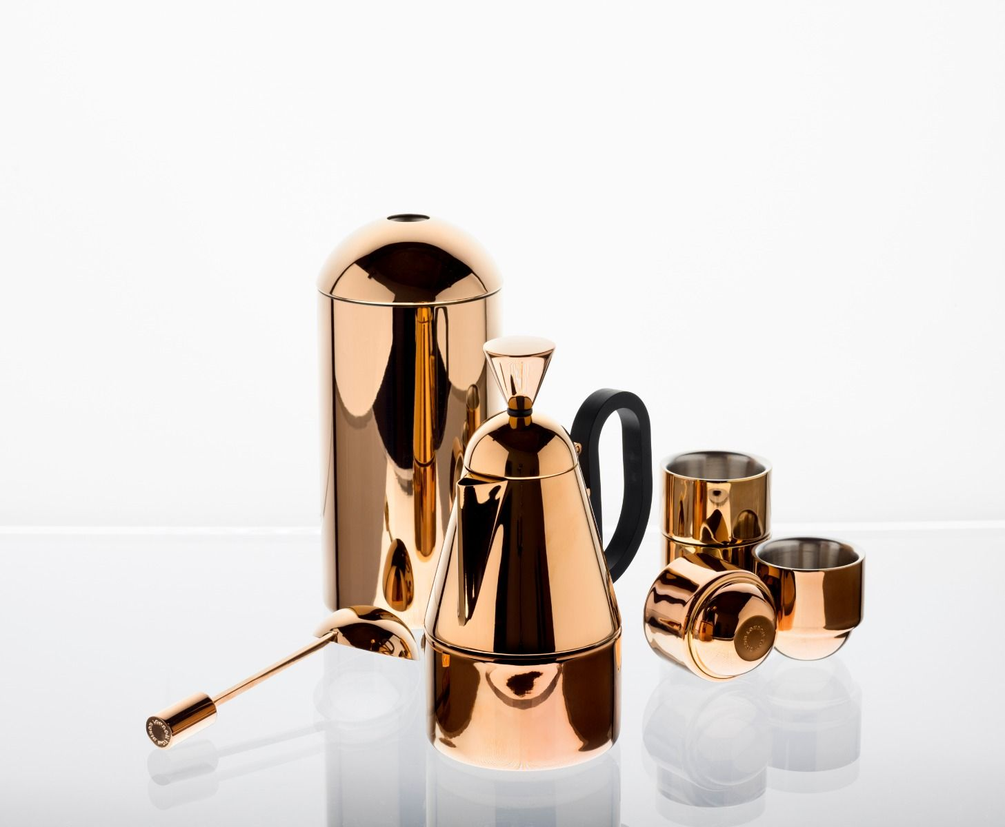 Coffee Maker With Copper Heating Element : Satchel: Tom Dixon Stovetop Copper Espresso Coffee Maker