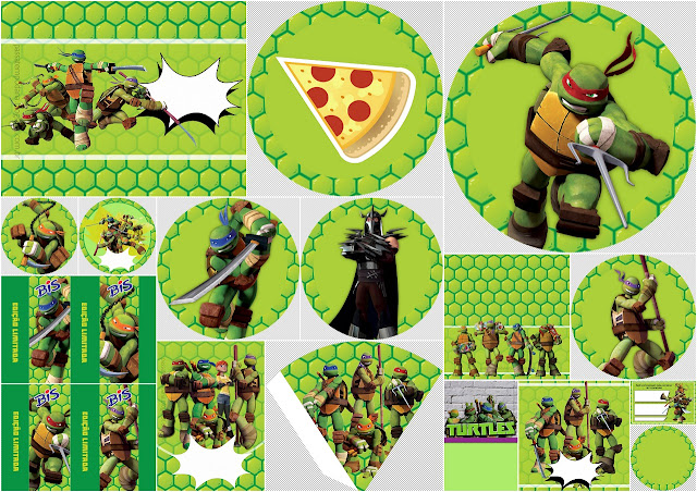 Ninja Turtles: Free Printable Party Kit.