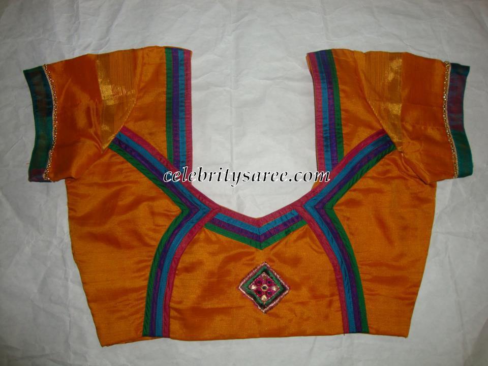 Simple Designer Blouses for Plain Saris - Saree Blouse ...