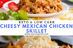 Keto Cheesy Mexican Chicken Skillet
