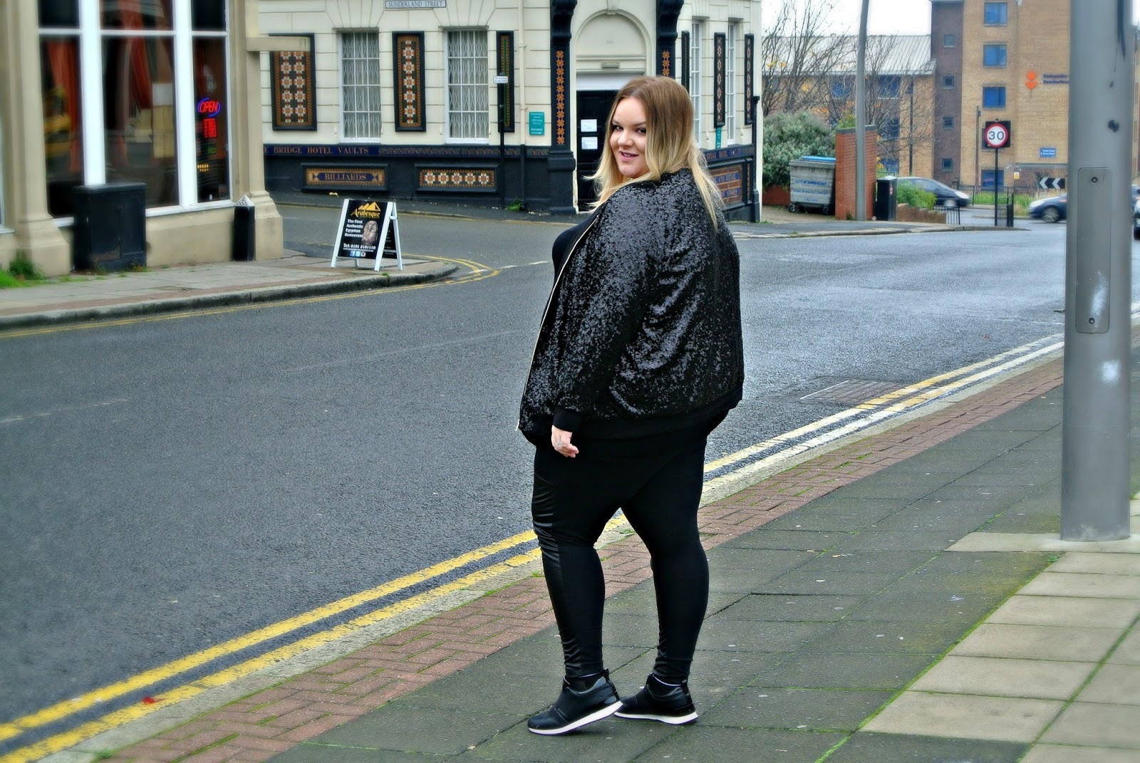 Manon Baptiste Sequin Bomber Jacket from Navabi