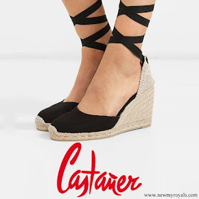 Meghan Markle wore Castaner Carina canvas wedges espadrilles