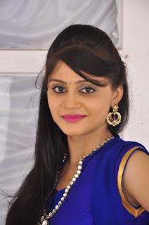 Actress Harisha Krishna Stills in Beautiful Blue Chudiddar  0006.jpg