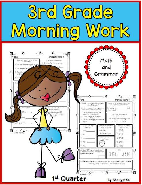 Morning Work For Third Grade