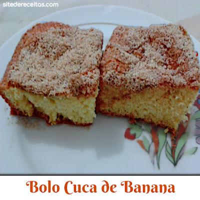 Bolo Cuca de Banana