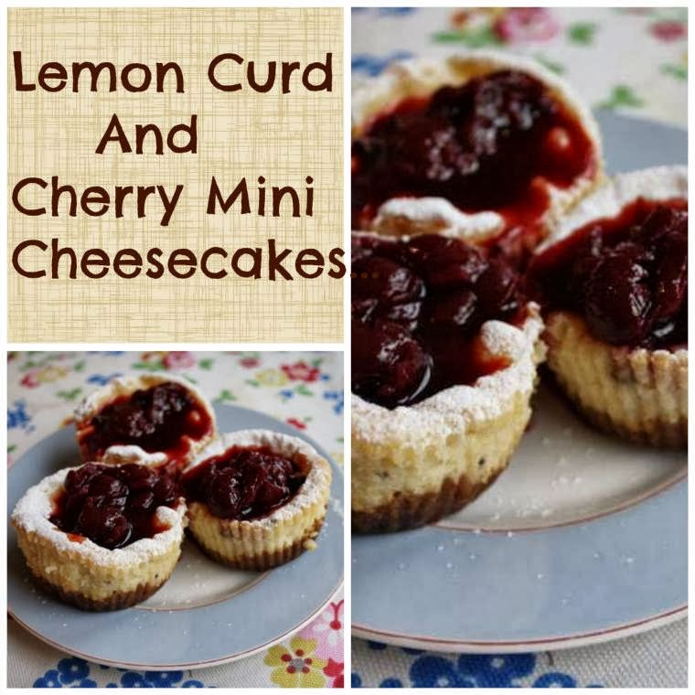 Lemon Curd And Cherry Mini Cheesecakes