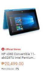 HP x360 Convertible 11-ab028TU