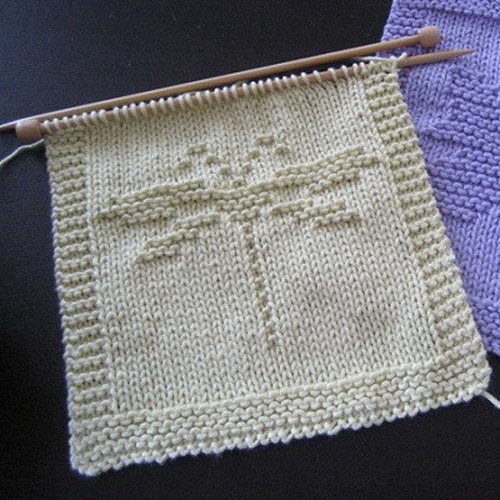 Dragonfly Washcloth - Free Pattern