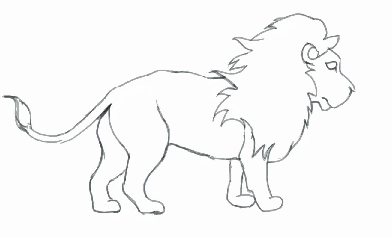 Lion Drawing 3d Drawing