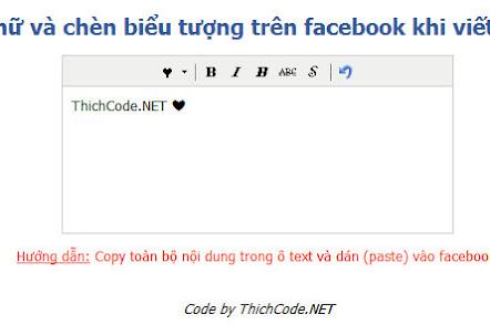 Định dạng Font chữ và chèn biểu tượng trên facebook khi viết status và comment