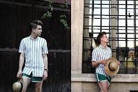 Look Masculino com Short Curto Tendência Masculina Verão 2019