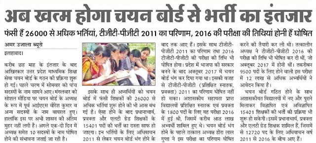 UP TGT PGT Vacancy 2018 26,000 Bharti Latest News