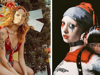 Artista mescla obras de arte mais famosas da história com a cultura pop contemporânea