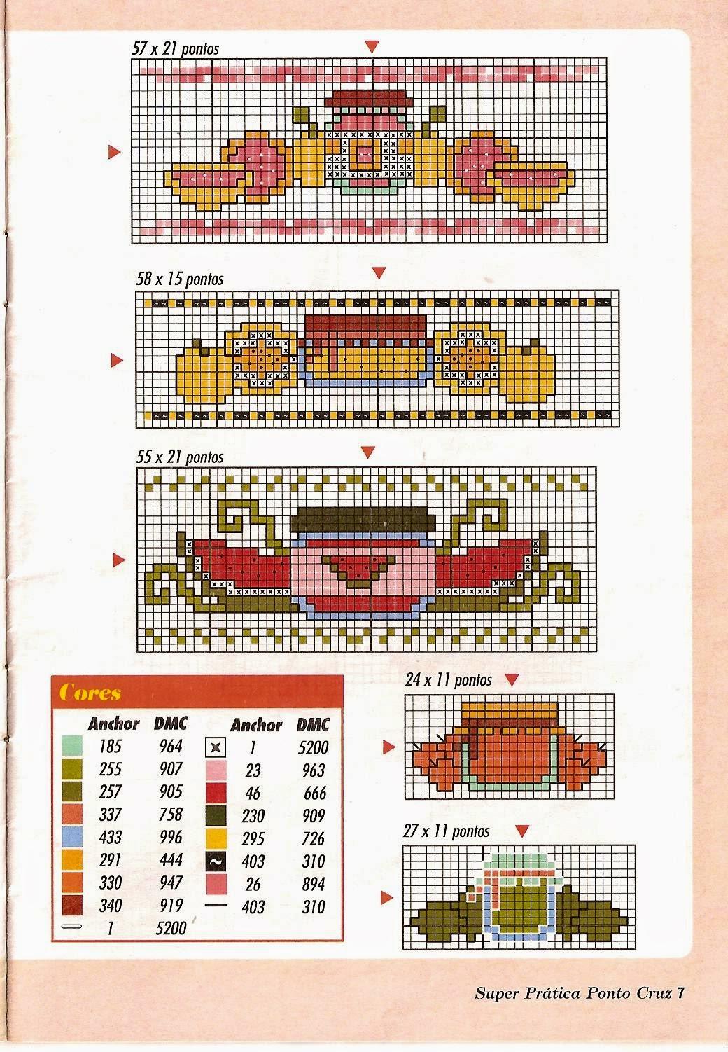 Schemi Punto Croce Strofinacci Cucina.L Angolo Di Malu 3 Bordure Per Canovacci Cucina