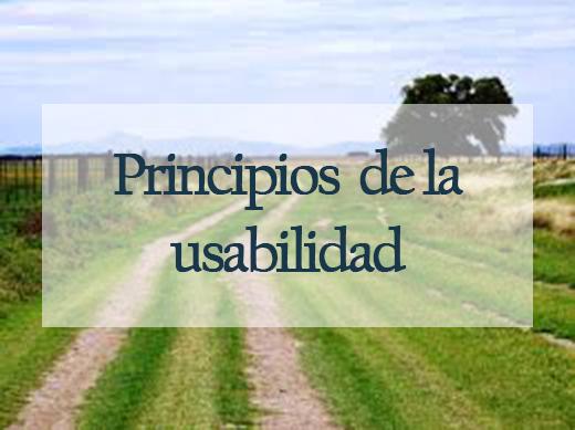 Principios de la usabilidad